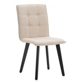 Chaise de salle à manger Miller tissu cappuccino