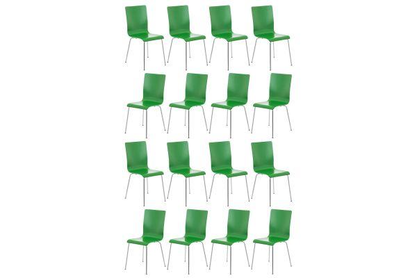 Lot de 16 chaises visiteur Pepe en bois