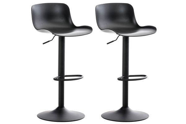 Lot de 2 tabourets de bar Almada en Plastique