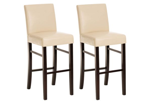 Lot de 2 tabourets de bar Alvin similicuir