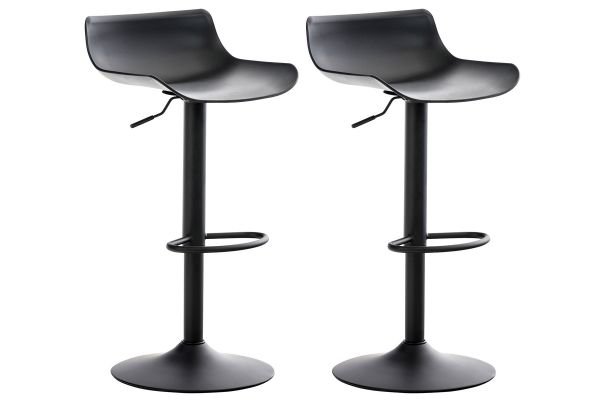 Lot de 2 tabourets de bar Aveiro en plastique