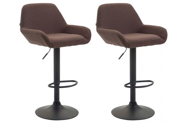 Lot de 2 tabourets de bar Braga tissu