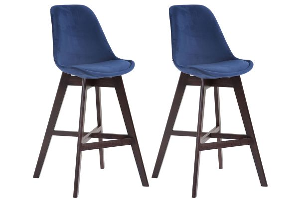 Lot de 2 tabourets de bar Cannes en velours