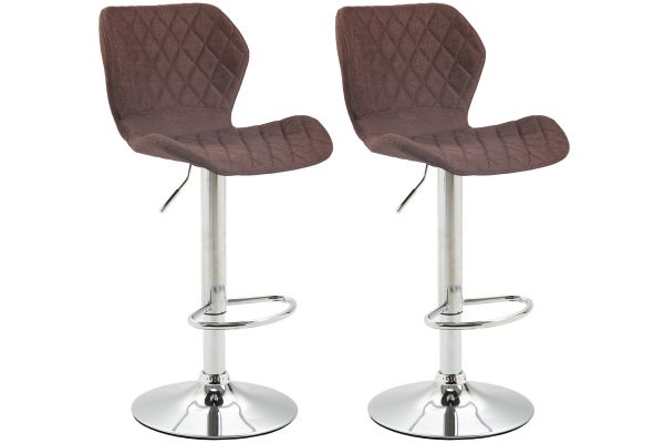 Lot de 2 tabourets de bar Cork en tissu