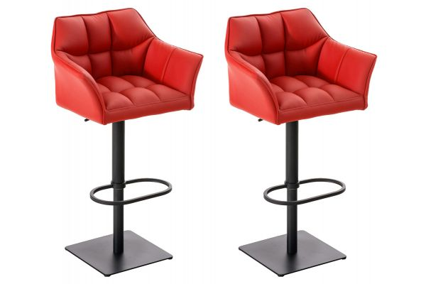 Lot de 2 tabourets de bar Damaso similicuir