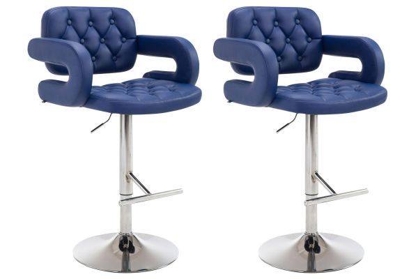 Lot de 2 tabourets de bar Dublin en similicuir