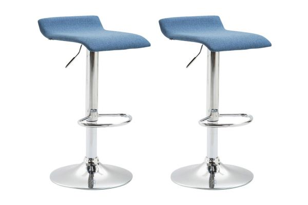 Lot de 2 tabourets de bar Dyn V2 tissu