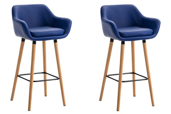 Lot de 2 tabourets de bar Grant en similicuir