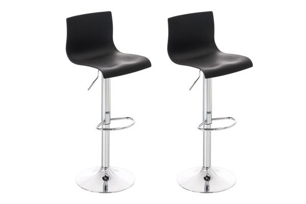 Lot de 2 tabouret de bar Hoover Plastique