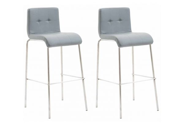 Lot de 2 tabourets de bar Kado similicuir pieds ronds