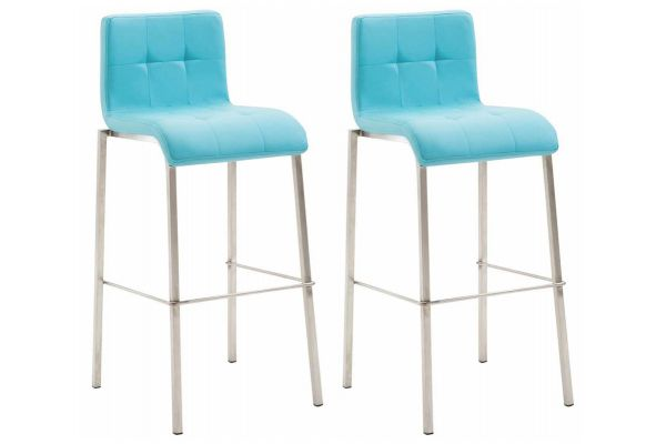Lot de 2 tabourets de bar Kado en similicuir avec piètement carré