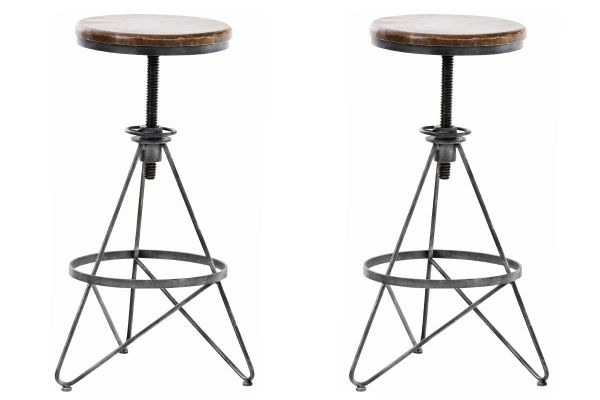 Lot de 2 tabourets de bar Karla