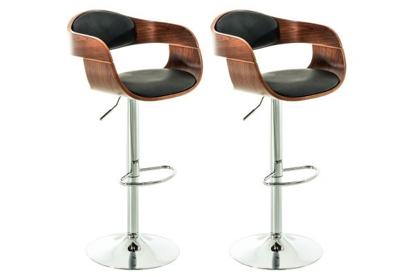 Lot de 2 tabourets de bar KINGSTON similicuir
