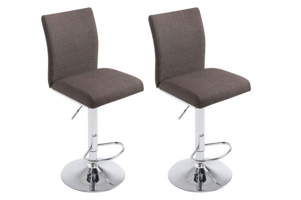 Lot de 2 tabourets de bar Köln tissu