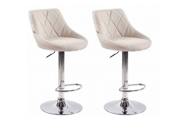 Lot de 2 tabourets de bar Lazio tissu