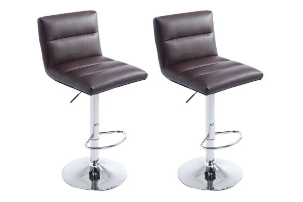 Lot de 2 Tabourets de bar Limerick Similicuir