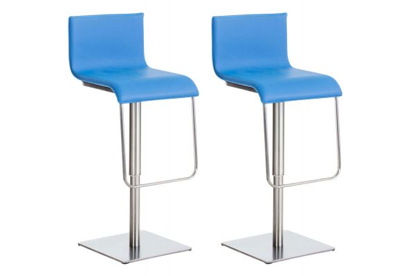 lot de 2 Tabourets de bar Limon similicuir