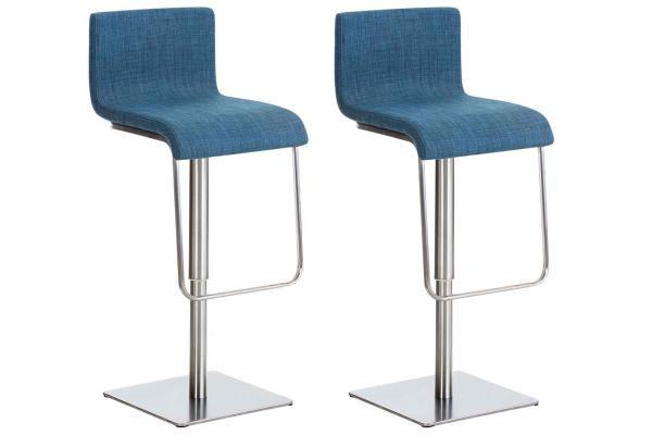 Set de 2 chaises hautes Limon en tissu