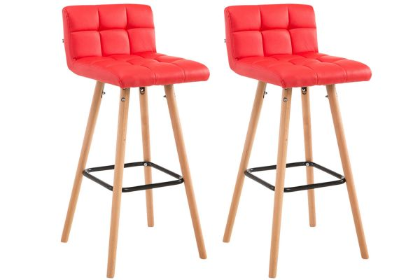 Lot de 2 tabourets de bar Lincoln V2 similicuir