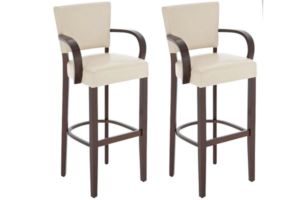 Lot de 2 tabourets de bar Lionel V2 avec accoudoir