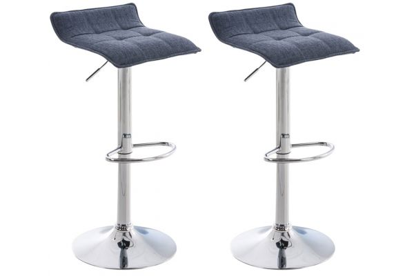 Lot de 2 tabourets de bar Madison tissu