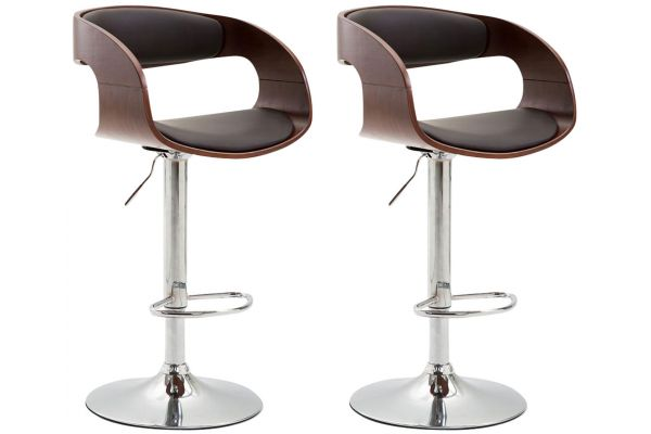 Lot de 2 Tabouret de Bar Manaus Similicuir