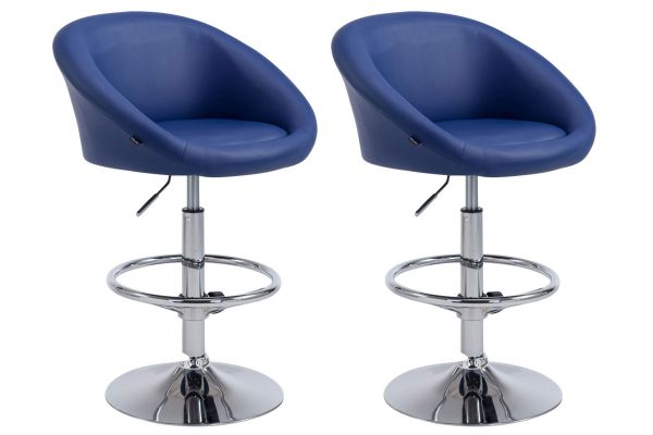 Lot de 2 tabourets de bar Miami V2 similicuir
