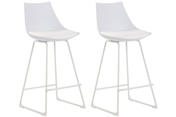 Lot de 2 tabourets de bar design Morgan en similicuir