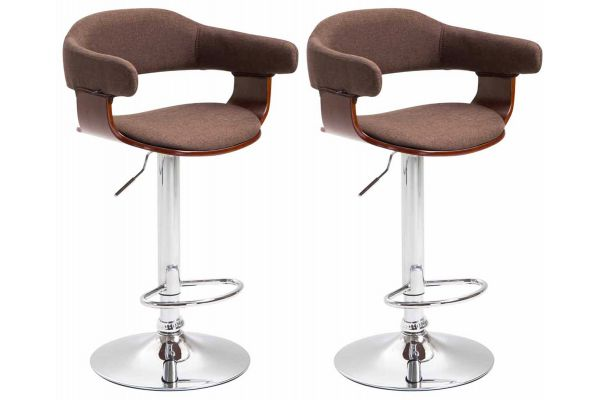Lot de 2 tabourets de bar Natal tissu