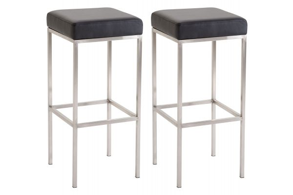Lot de 2 Tabourets de Bar Newark 80 cm Similicuir