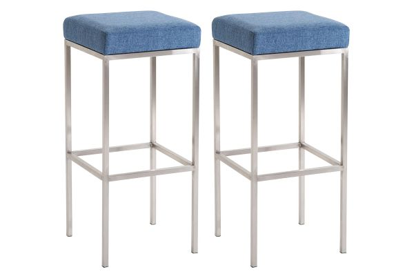 Lot de 2 Tabourets de Bar Newark 80 cm Tissu