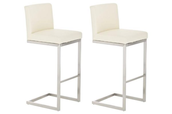Lot de 2 tabourets de bar Paros en similicuir