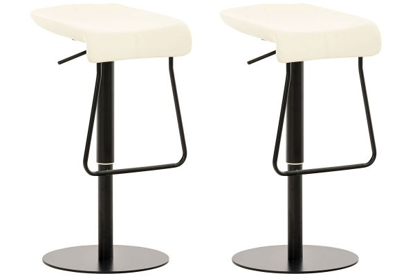Lot de 2 tabourets de bar rabat en similicuir