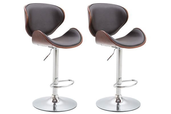 Lot de 2 tabourets de bar Recife Similicuir