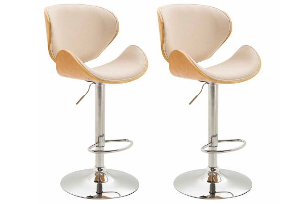 Lot de 2 tabourets de bar Recife tissu