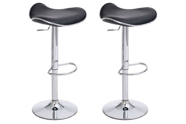 Lot de 2 Tabourets de bar Shanghai en Similicuir
