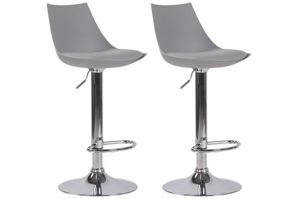 Lot de 2 tabourets de bar Theodore en similicuir