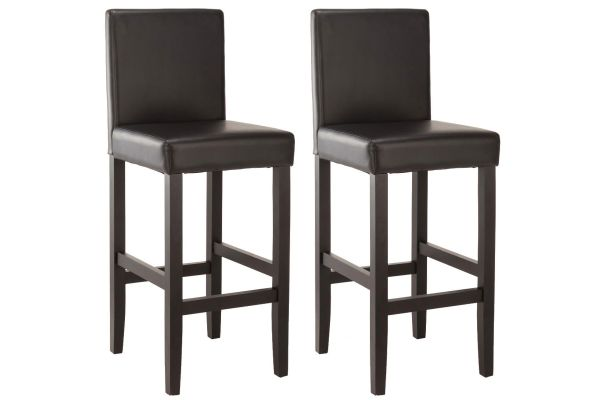 Lot de 2 Tabourets de Bar Venlo Similicuir