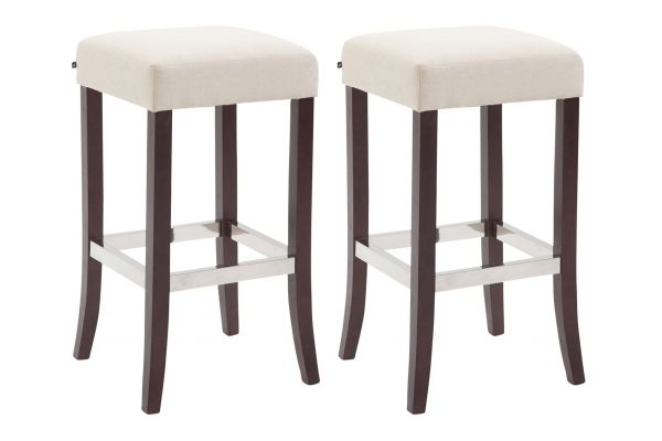 Lot de 2 tabourets de bar Venta tissu