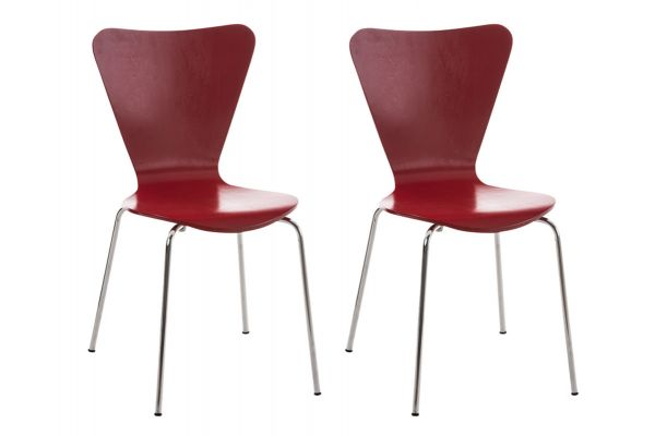 Lot de 2 chaises empilables Calisto