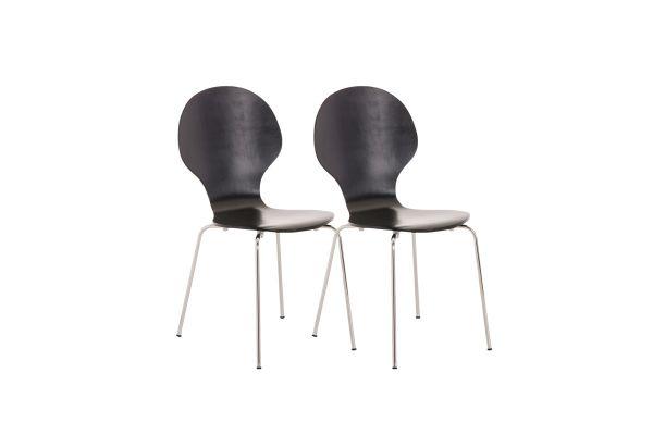 Lot de 2 chaises empilables en bois Diego