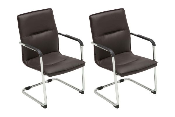Lot de 2 Chaises de visiteur Seattle En similicuir