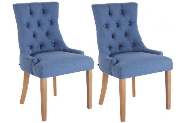 Lot de 2 chaises de salle à manger Aberdeen en tissu