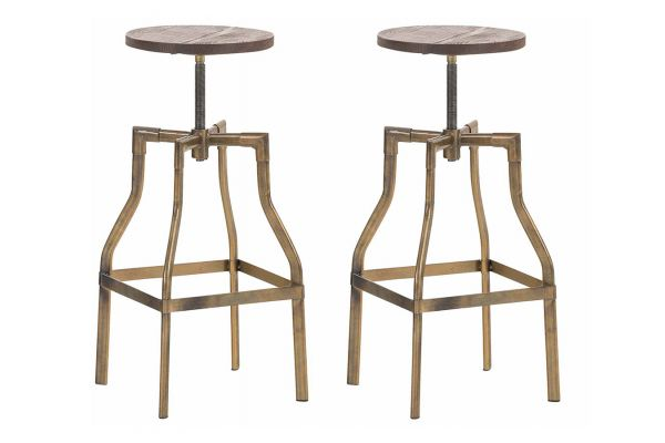 Lot de 2 tabourets de bar Kara