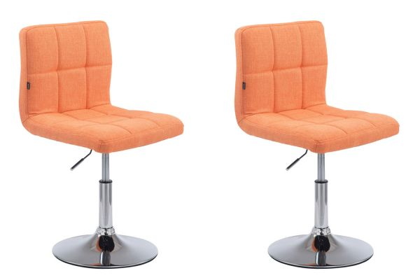 Set de 2 chaises lounge Palma V2 en tissu