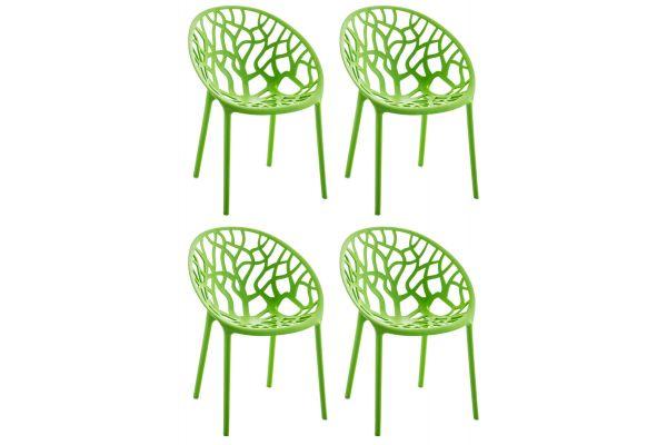 4er Set Stuhl Hope grün
