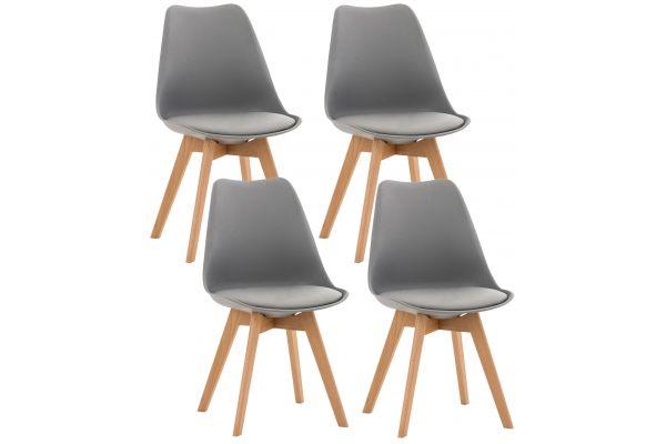 Lot de 4 chaises de cuisine Linares