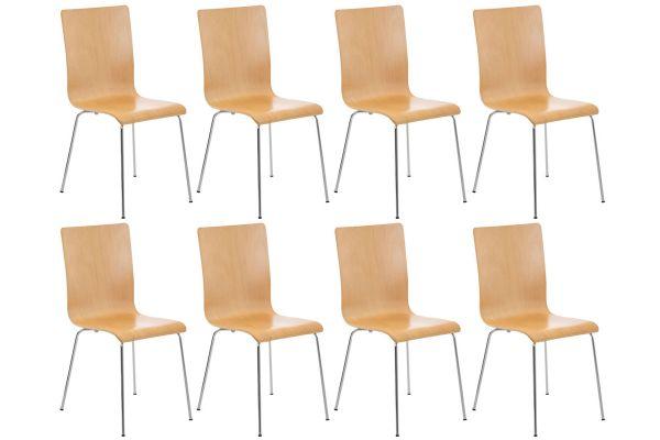 Lot de 8 chaises en bois Pepe