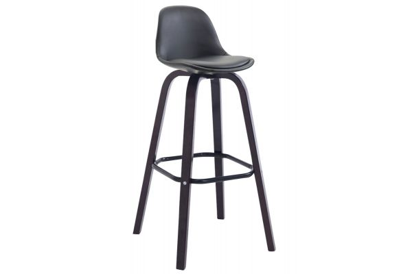 Tabouret de bar AVIKA similicuir support bois