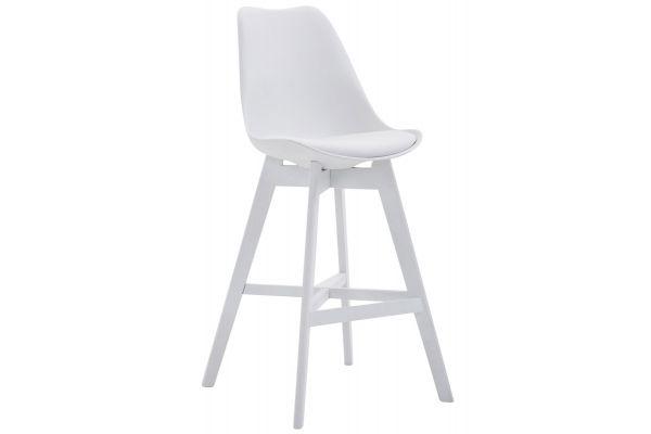 Barhocker Cannes Kunststoff Weiß weiß